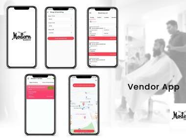 Modern Barber - Vendor android App