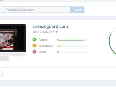 On-page SEO | E-Commerce Website sneezeguard.com