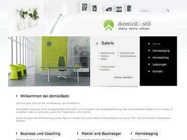 Custom Joomla site for an interior design firm.