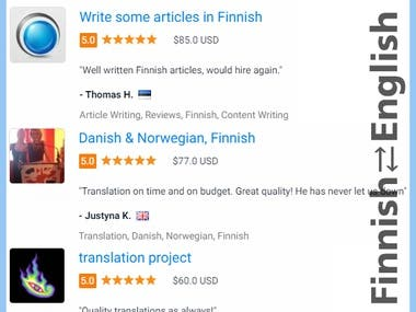 Finnish ⇄ English Translation