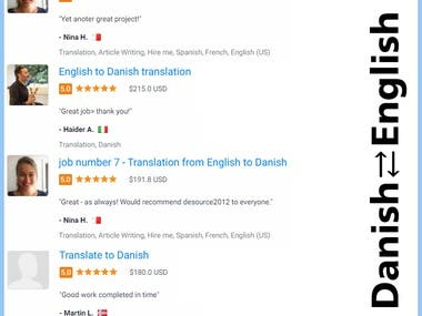 Danish ⇄ English Translation