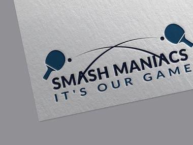 """""""Smash Maniacs"""" Table Tennis Logo"""