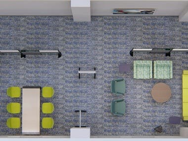 Office 3D modelling and interior des
