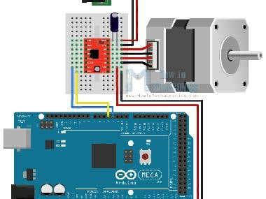 Nema 23 Motor Control Using Arduino Mega
