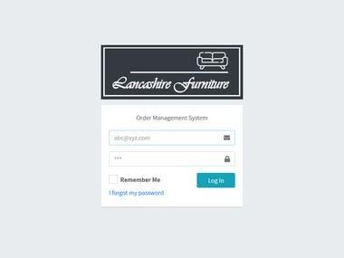 Lancashire Furniture - Order Management System