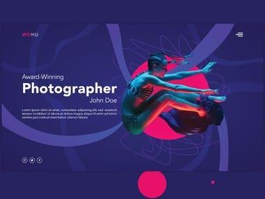 Photographer Portfolio Landing Page