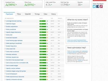 Hire.RocViju.com Website Speed Optimization - GTMetrix Score