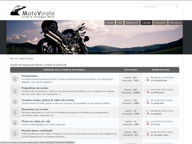 Joomla and phpBB motorbike riders community site.