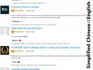 Simplified / Mandarin Chinese ⇄ English Translation