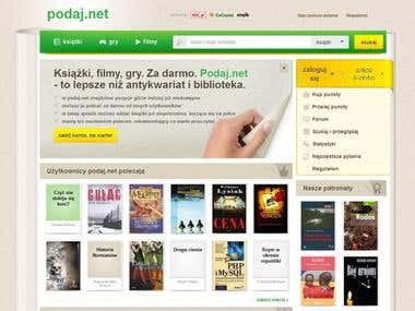 Podaj - books exchanging website