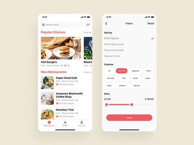 Food Delivery App for Android & iPhone