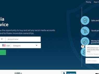 Social media Escrow service
