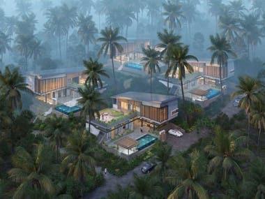 Exterior rendering realistic architecture project- Vietnam
