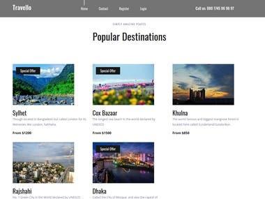 Tourist Site Using Django Framework