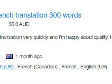 English to French Text Translation