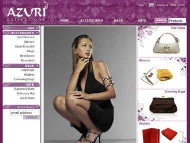Azuri-Collections.com - E-Commerce Website For Fashion Items
