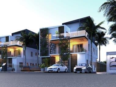 Villa Design & Rendering