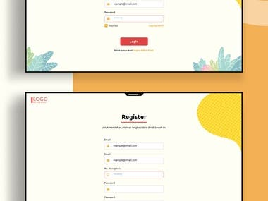 UI Login & Register Dekstop
