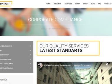 Accounting Website - Wordpress