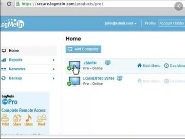 Log me in tool for remote access