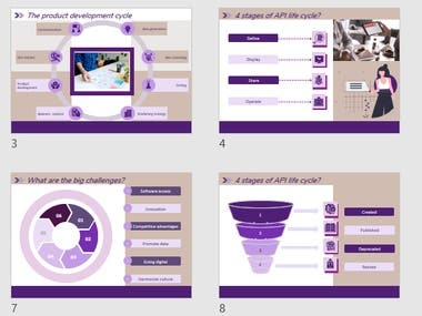 Slide deck purple theme