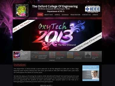 Oxy-Tech 2010 - National Level Techno-Cultural Fest