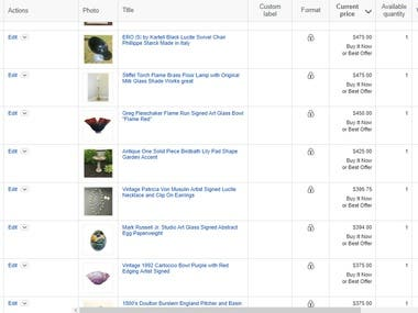 Ebay Product listings
