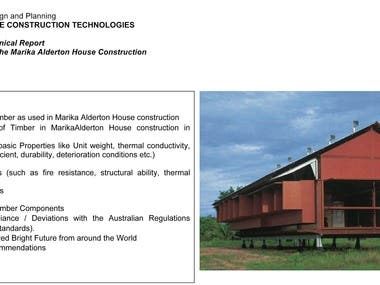 Technical report Timber Usage in Marika Alderson Residence
