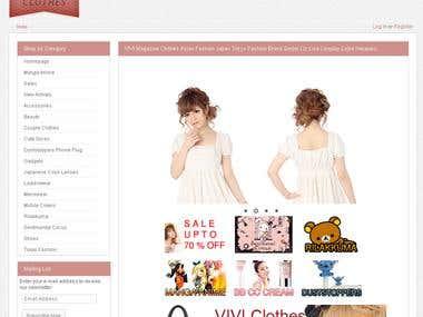 VIVI Clothes E-Commerce Solution