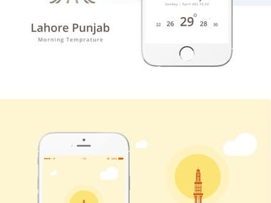 Lahore Weather App Screen Design