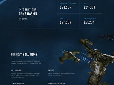 Game Translation Screen Landing Page