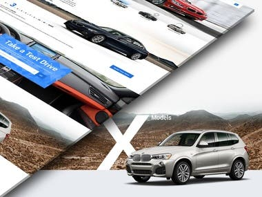 Landing Page Design For BMW