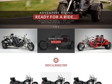 Landing Page Design for Rewaco brand