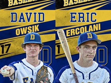DOWNINGTWOWN EAST BASEBALL BANNERS