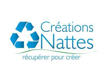 Logo Design for Créations Nattes