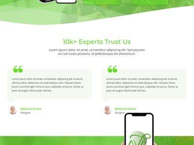 Landing Page - Application