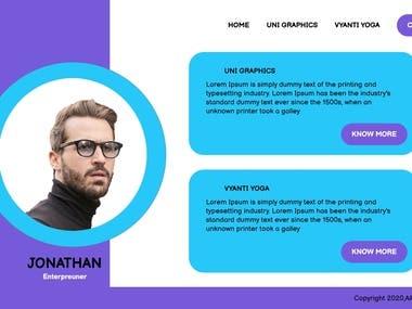 Personal Blog UI Design