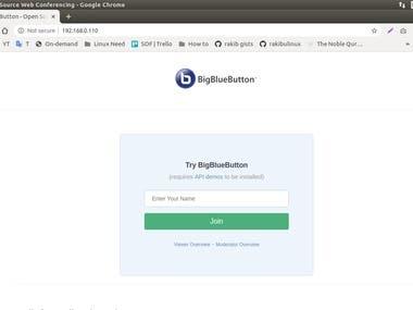 I have installed BigBlueButton On Linux Server