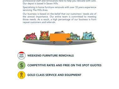 A2B Hills Removals Flyer