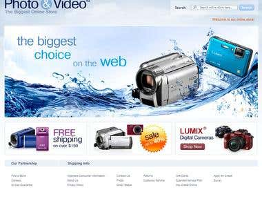 E-Commerce of  Camera & Videos