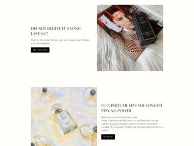 Webdesign and Development for Clemence Paris NY