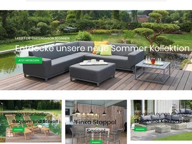 Webdesign and Development for Lounge Manufaktur