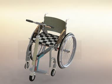 Wheel Chair with Steering Mechanism