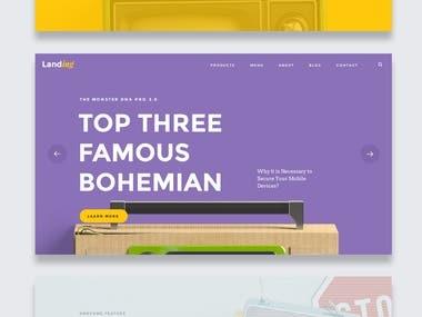 UI/UX Design - Website Design - Landing Page