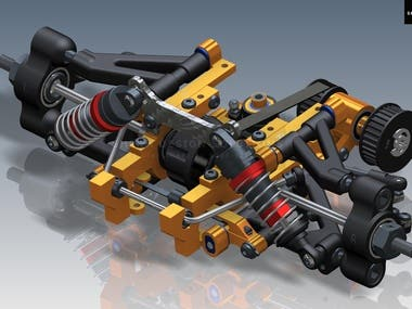 RC Controlled Car front suspension