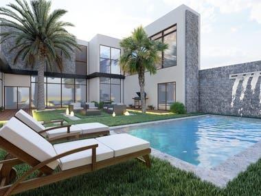 House Garden And Façade Design In KSA