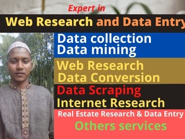 I well do Data Entry and web Research for your Business.