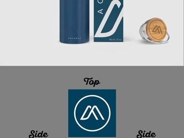 Modern and Minimalistic Box design of water bottle