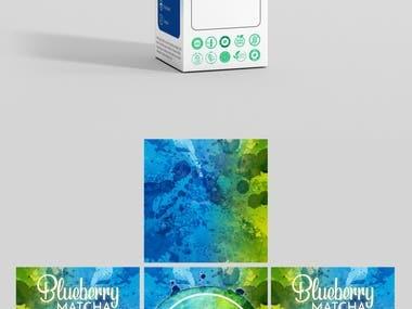 Blueberry Matcha Box Packaging