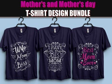 ?Mother's and Mother's Day T-Shirt Design Bundle ?